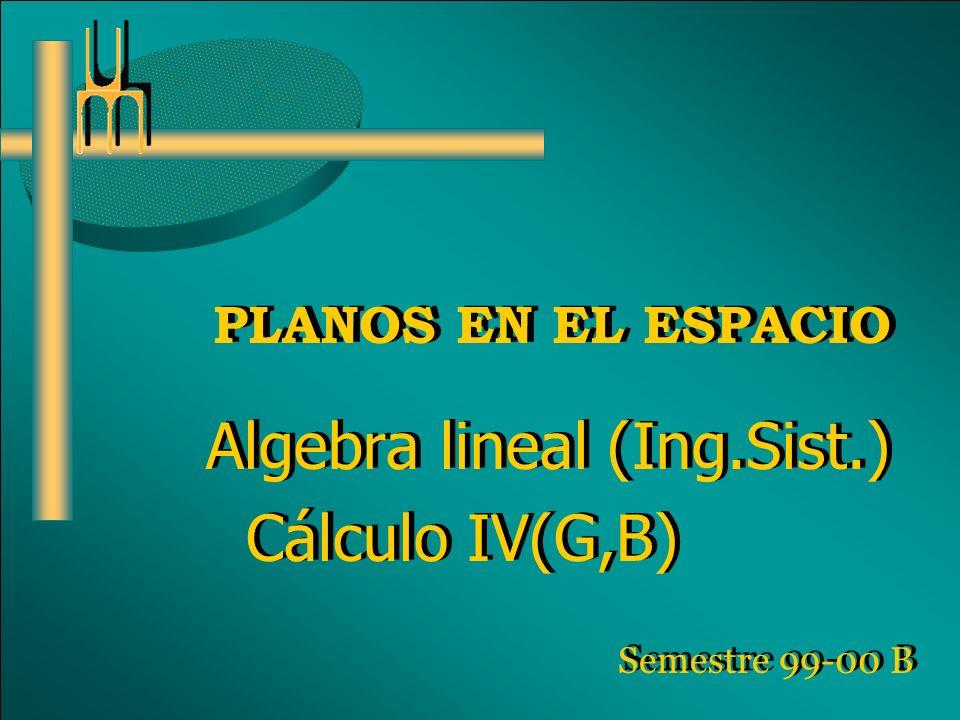 Algebra lineal (Ing.Sist.) Cálculo IV(G,B)