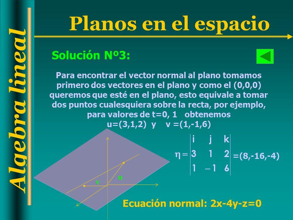 Solución Nº3: Ecuación normal: 2x-4y-z=0