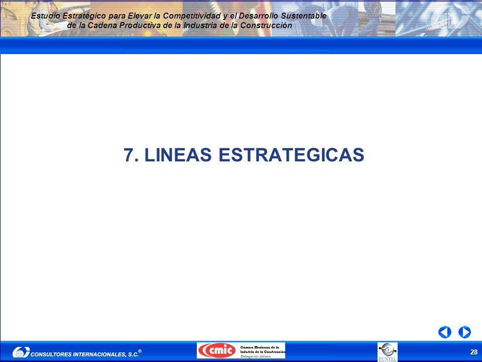 7. LINEAS ESTRATEGICAS