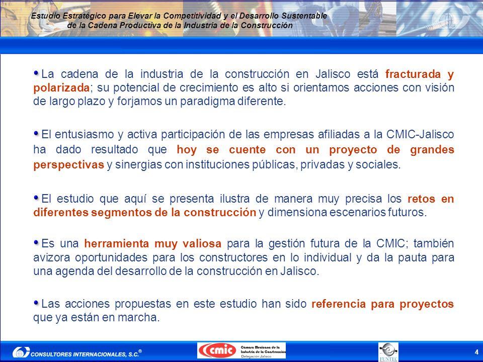 La cadena de la industria de la construcción en Jalisco está fracturada y polarizada; su potencial de crecimiento es alto si orientamos acciones con visión de largo plazo y forjamos un paradigma diferente.
