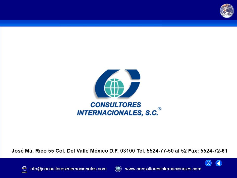 José Ma. Rico 55 Col. Del Valle México D. F. 03100 Tel