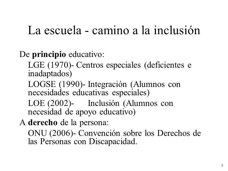 La escuela - camino a la inclusión