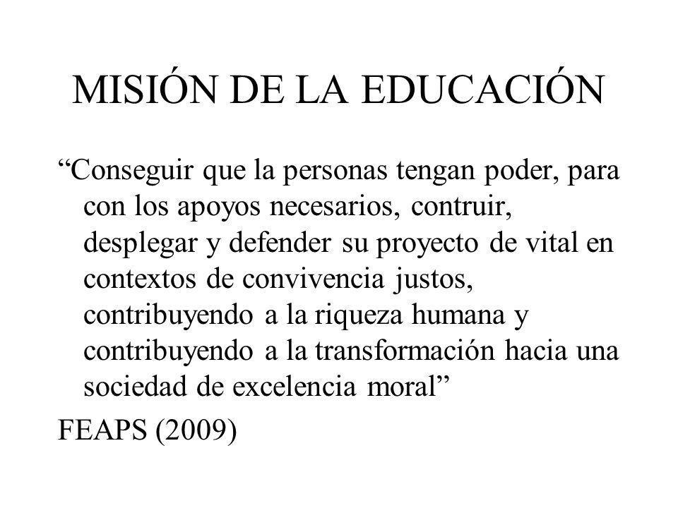 MISIÓN DE LA EDUCACIÓN