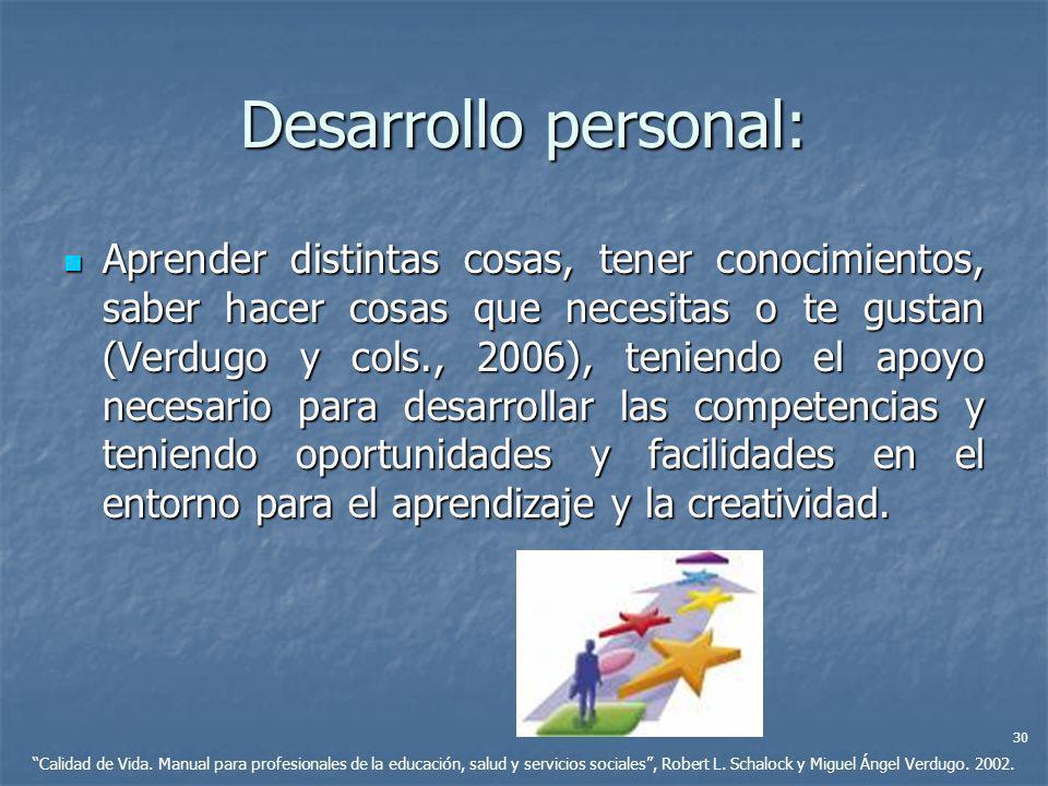 Desarrollo personal: