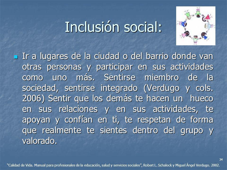 Inclusión social:
