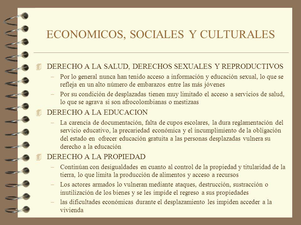 ECONOMICOS, SOCIALES Y CULTURALES