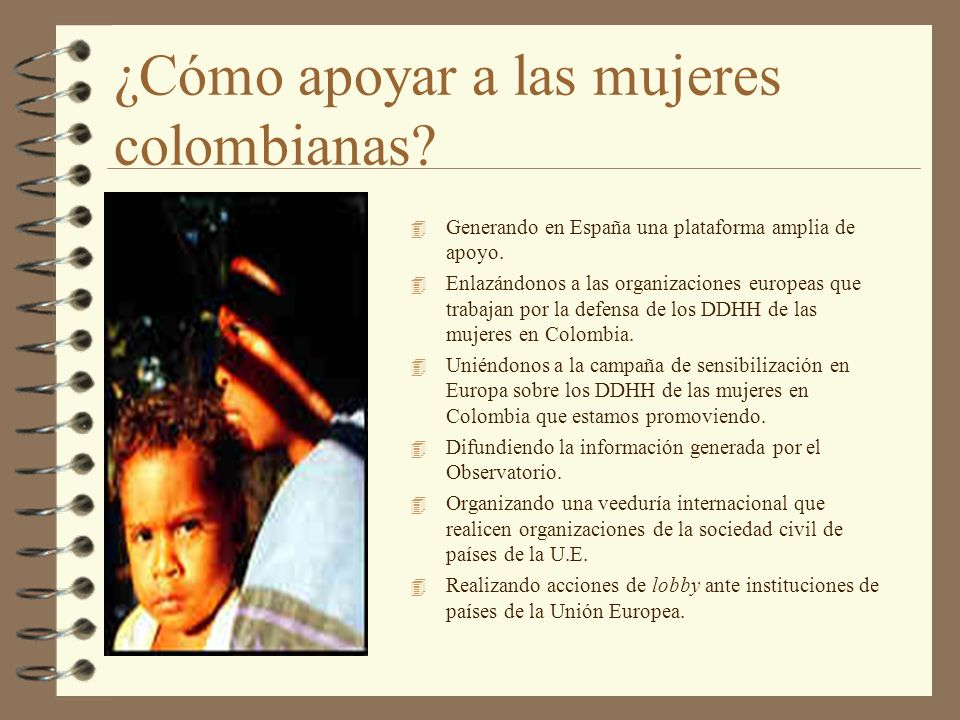 ¿Cómo apoyar a las mujeres colombianas