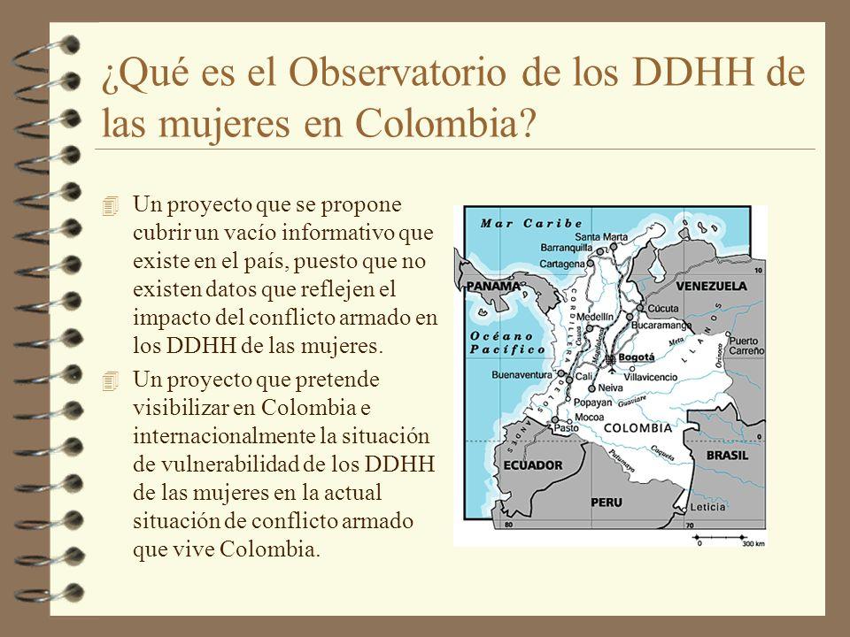 ¿Qué es el Observatorio de los DDHH de las mujeres en Colombia