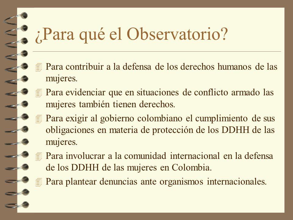 ¿Para qué el Observatorio
