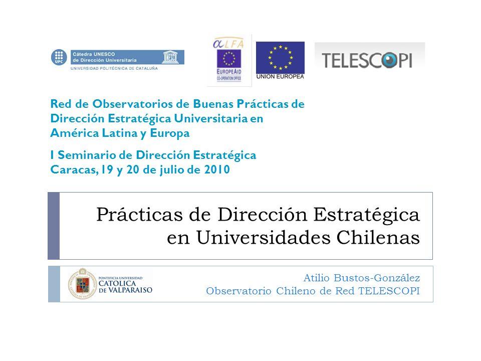Prácticas de Dirección Estratégica en Universidades Chilenas