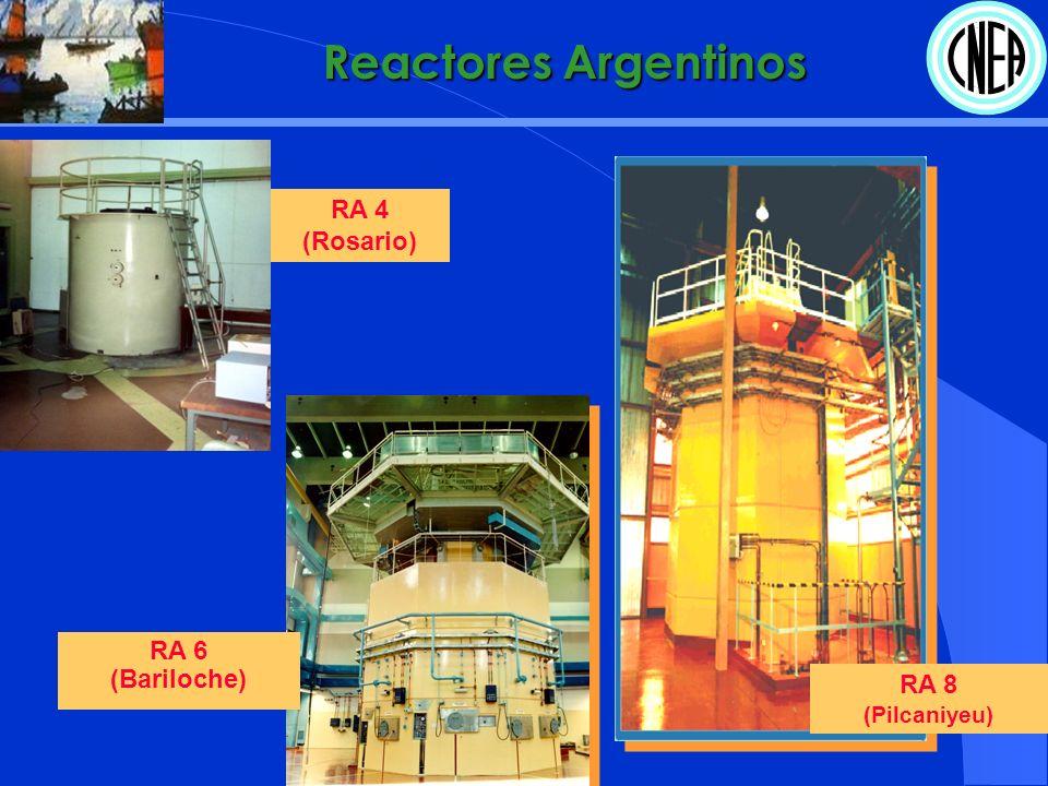 Reactores Argentinos RA 8 (Pilcaniyeu) RA 4 (Rosario) RA 6 (Bariloche)