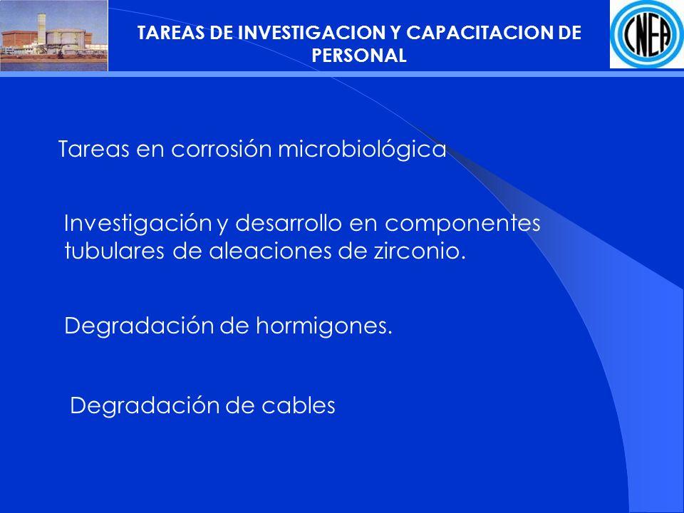 TAREAS DE INVESTIGACION Y CAPACITACION DE PERSONAL