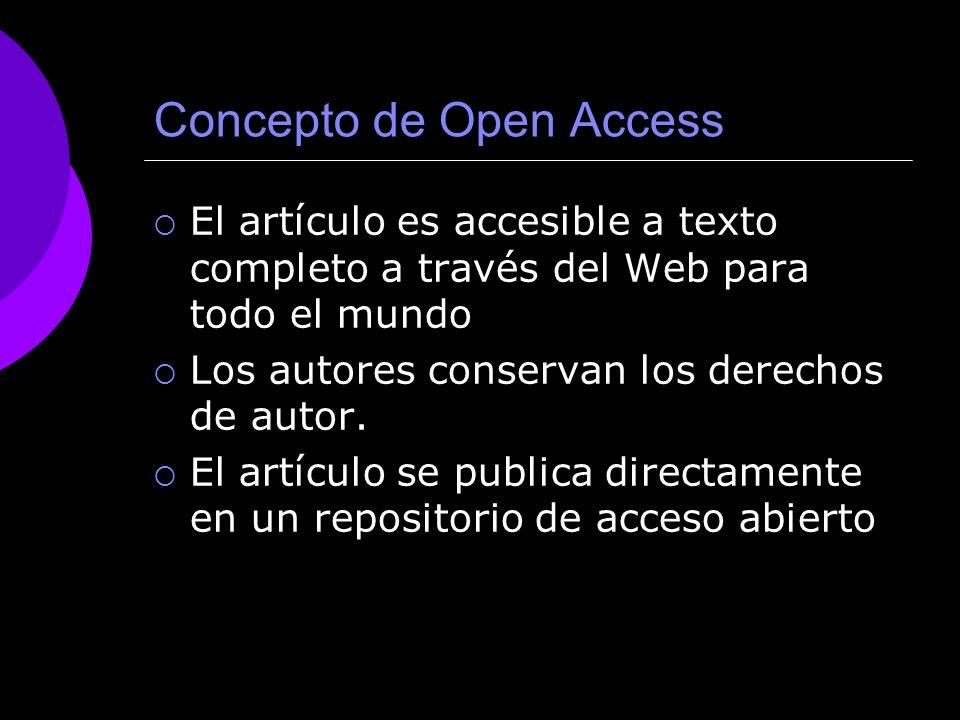 Concepto de Open Access