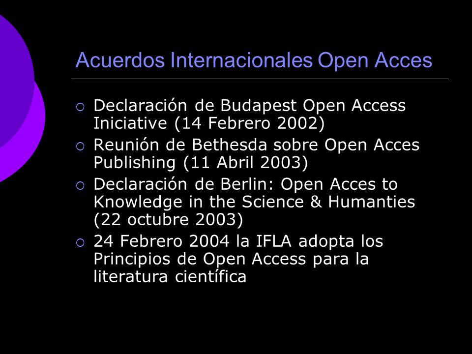 Acuerdos Internacionales Open Acces