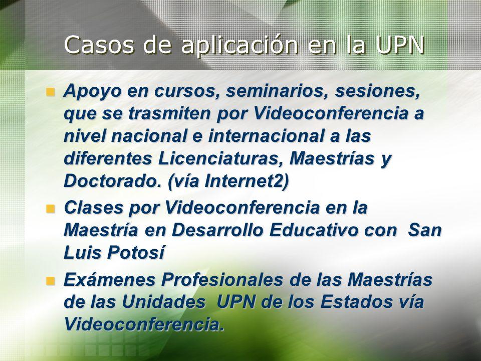 Casos de aplicación en la UPN