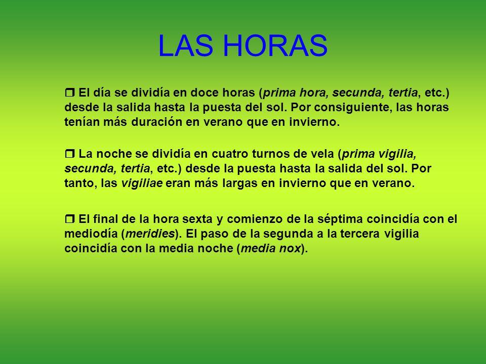 LAS HORAS