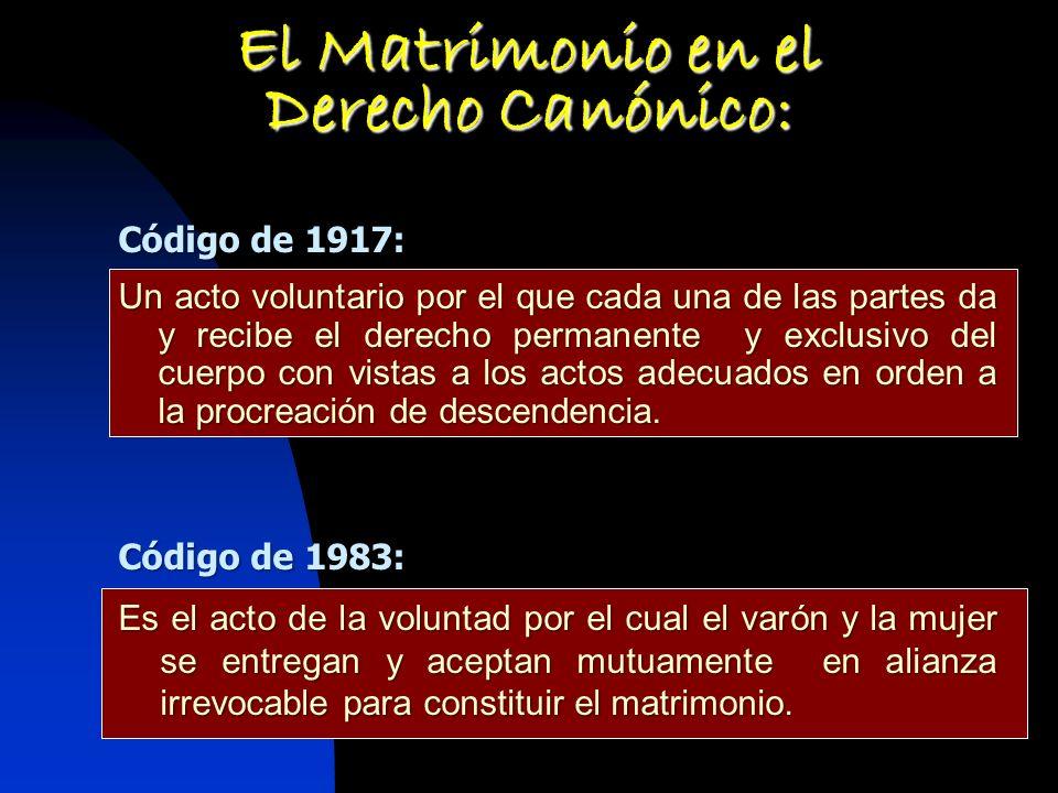 El Matrimonio en el Derecho Canónico:
