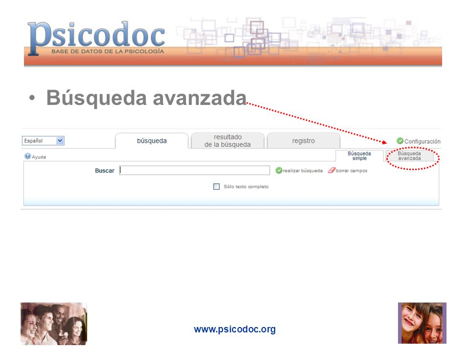 Búsqueda avanzada www.psicodoc.org