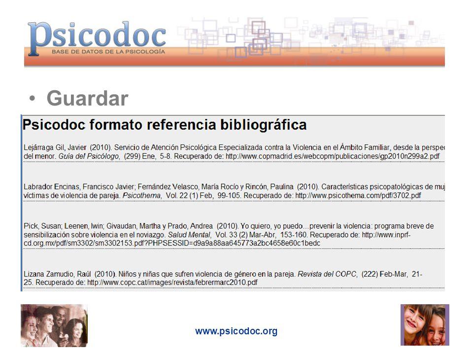 Guardar www.psicodoc.org