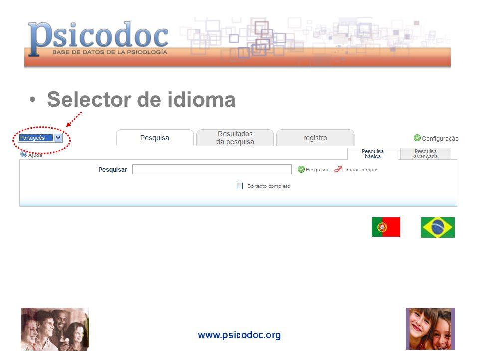 Selector de idioma www.psicodoc.org
