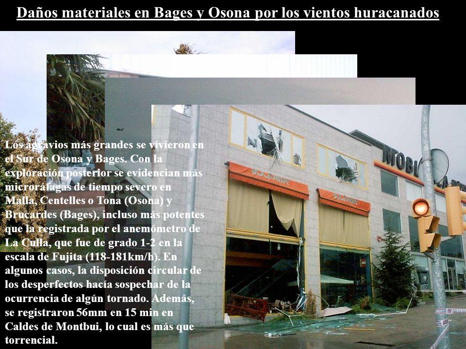 Daños materiales en Bages y Osona por los vientos huracanados