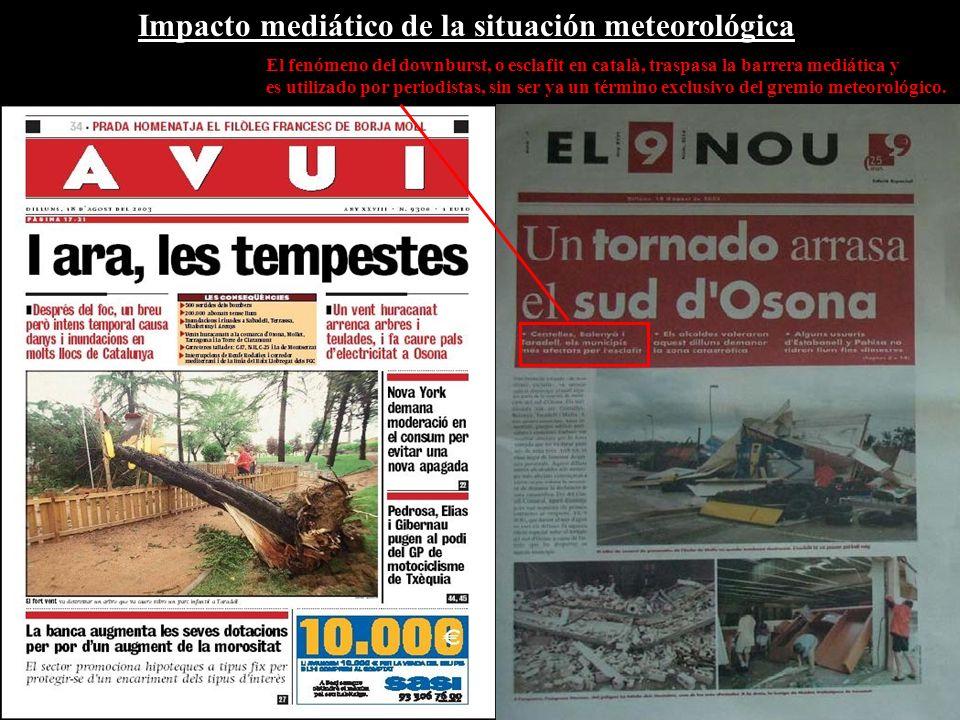Impacto mediático de la situación meteorológica