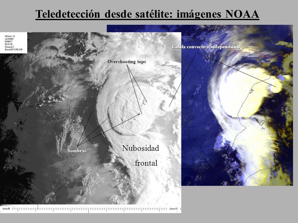 Teledetección desde satélite: imágenes NOAA