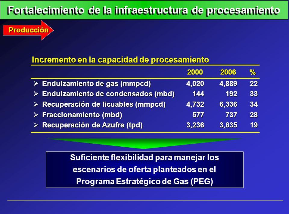 Fortalecimiento de la infraestructura de procesamiento