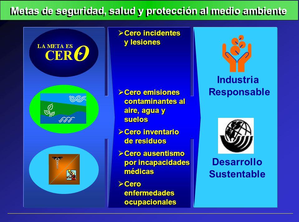 Metas de seguridad, salud y protección al medio ambiente
