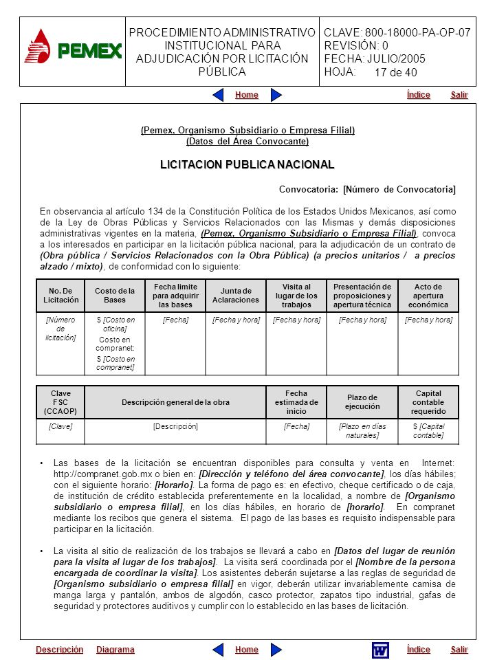 LICITACION PUBLICA NACIONAL