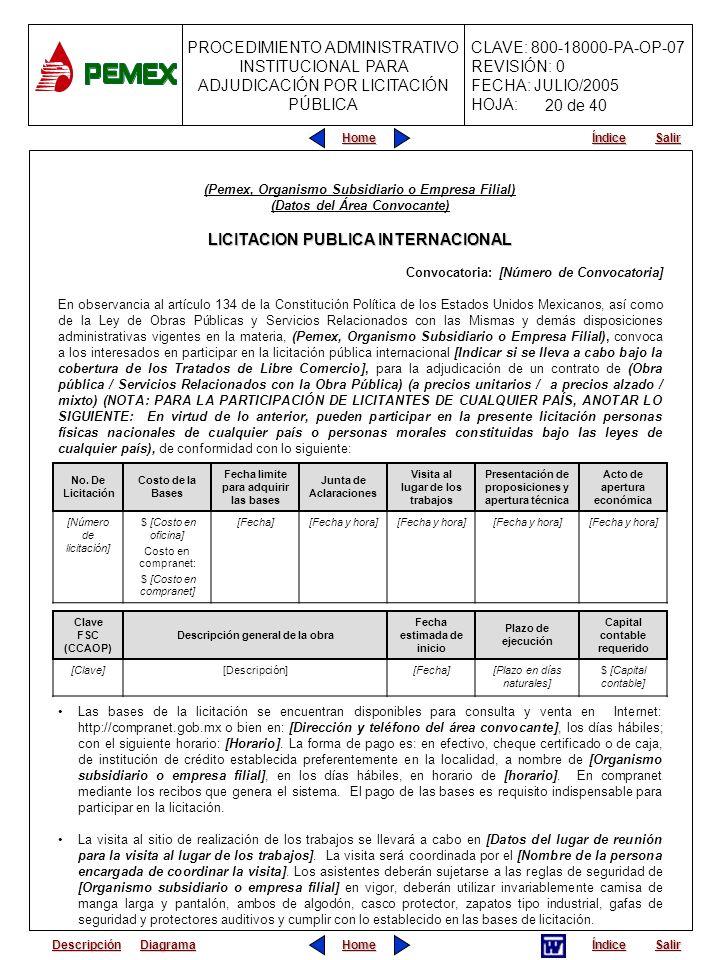 LICITACION PUBLICA INTERNACIONAL