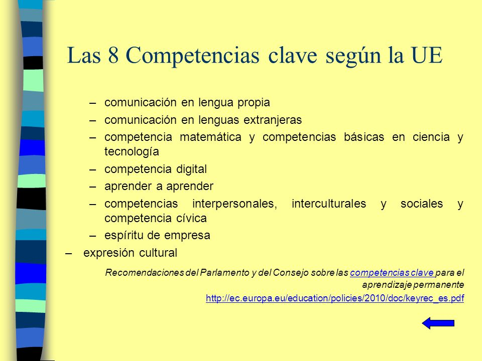 Las 8 Competencias clave según la UE