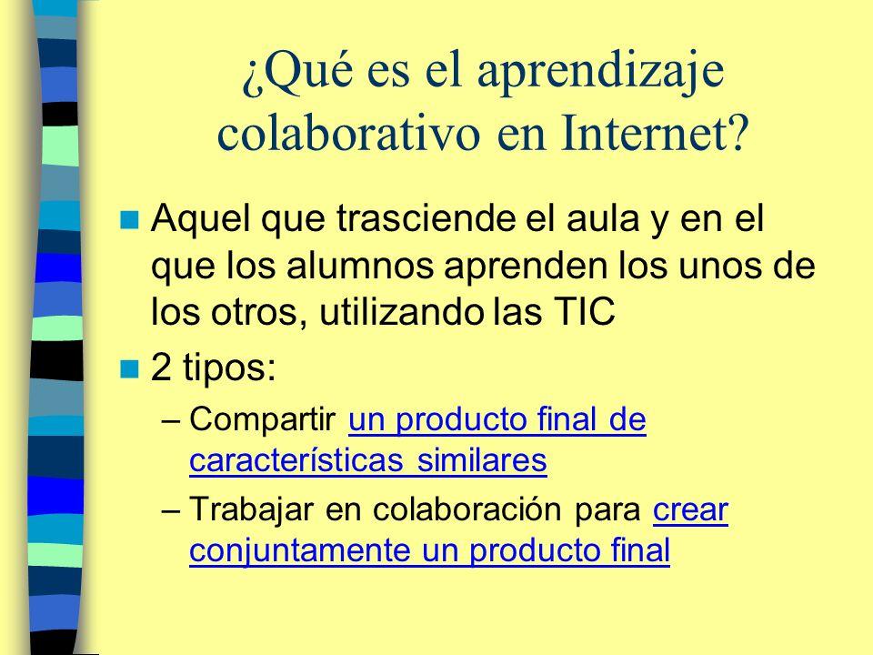 ¿Qué es el aprendizaje colaborativo en Internet