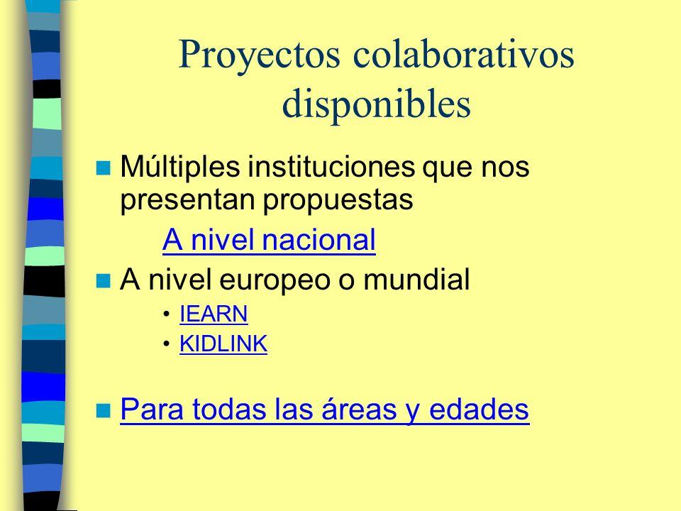 Proyectos colaborativos disponibles