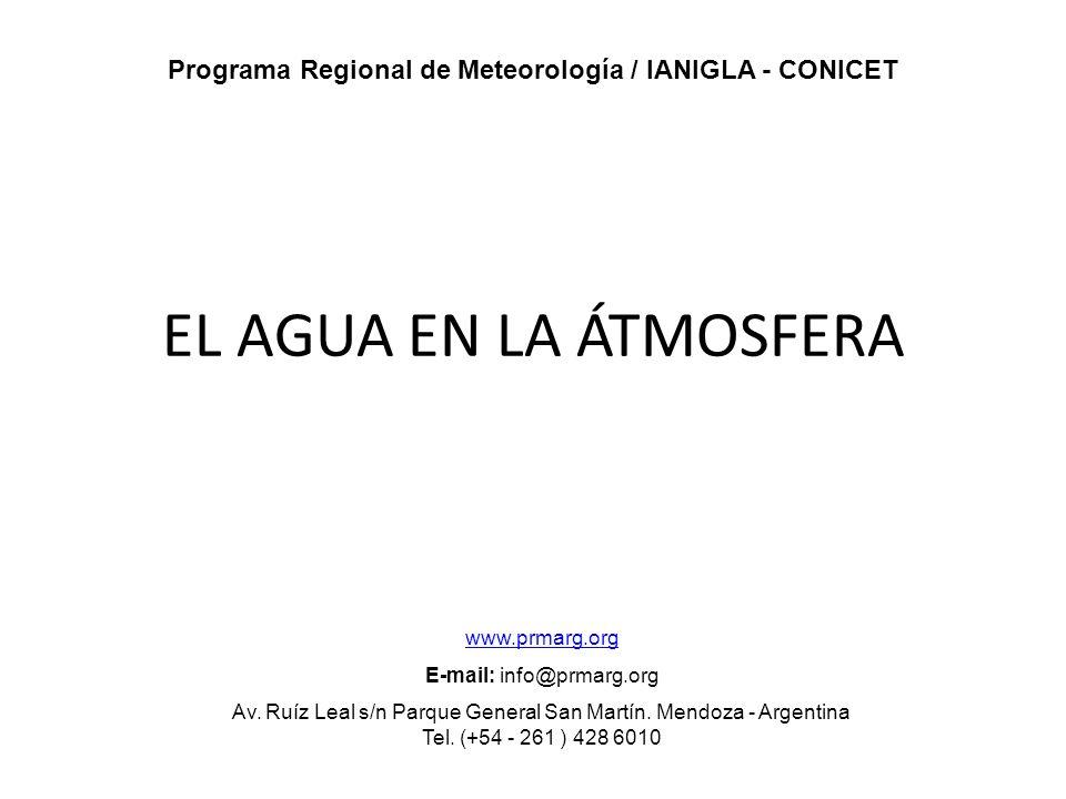 Programa Regional de Meteorología / IANIGLA - CONICET