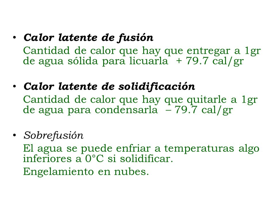 Calor latente de fusión