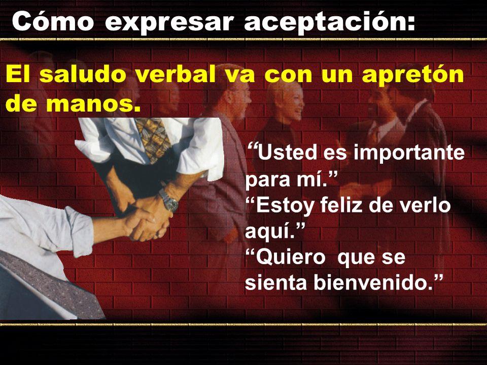 Cómo expresar aceptación:
