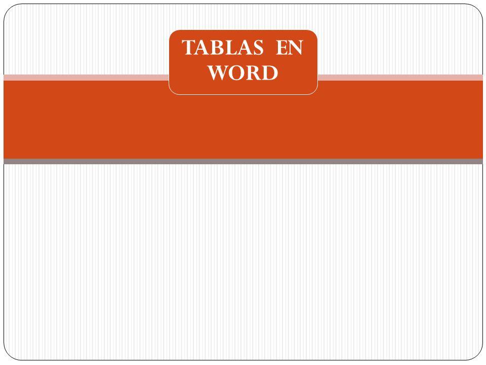 TABLAS EN WORD