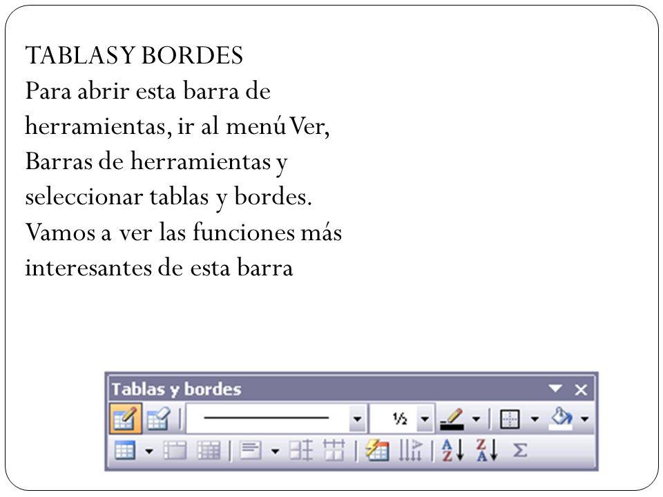 TABLAS Y BORDES