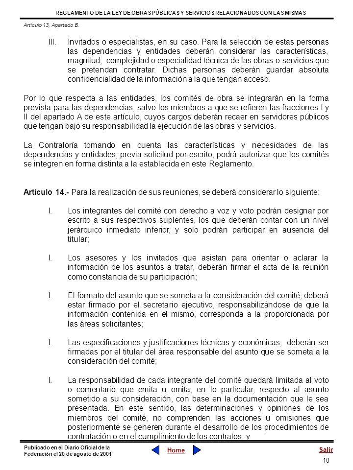 Artículo 13, Apartado B.
