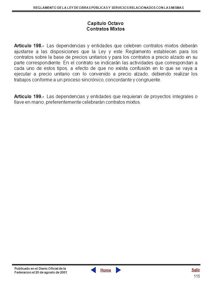 Capítulo OctavoContratos Mixtos.
