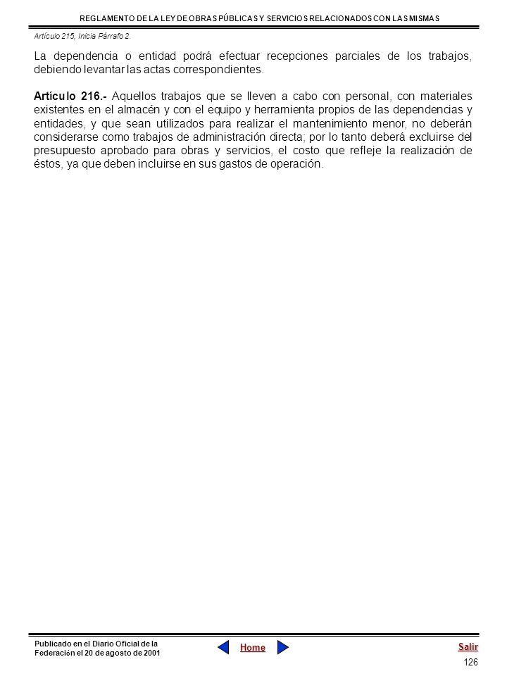 Artículo 215, Inicia Párrafo 2.