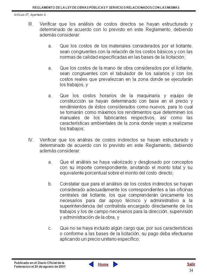 Artículo 37, Apartado A.