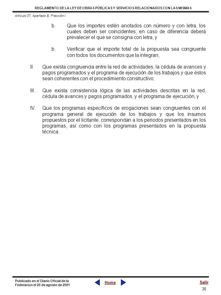 Artículo 37, Apartado B, Fracción I.