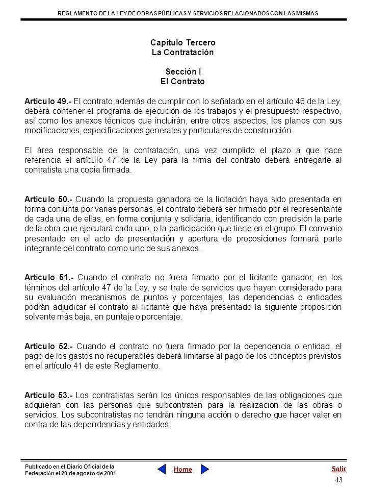 Capítulo Tercero La Contratación. Sección I. El Contrato.