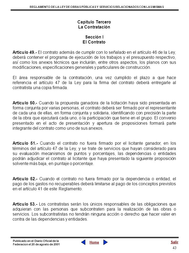 Capítulo TerceroLa Contratación. Sección I. El Contrato.