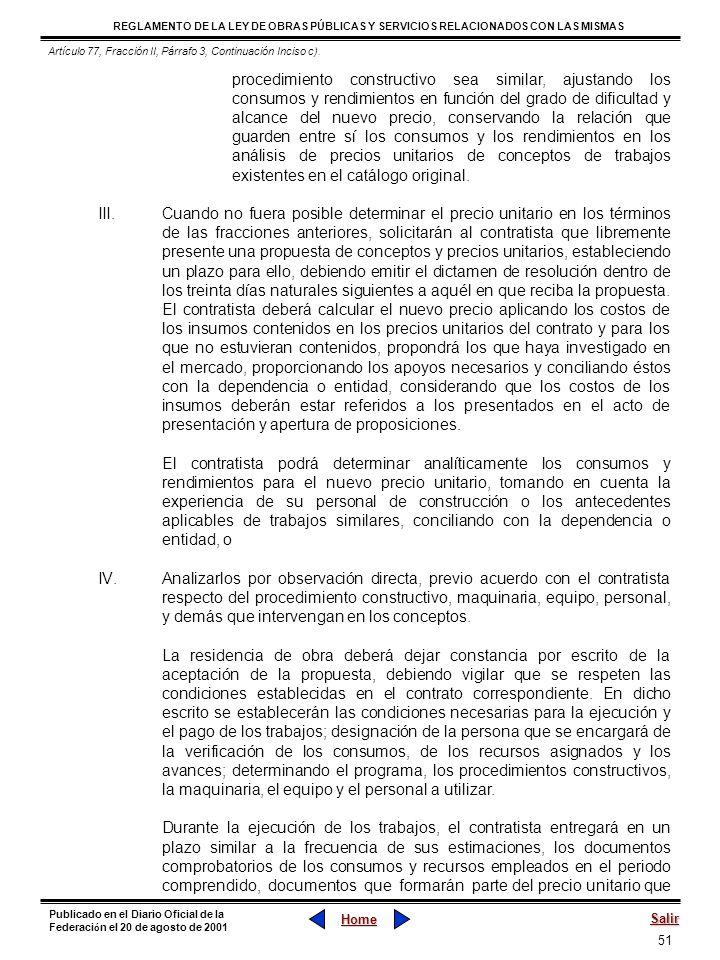 Artículo 77, Fracción II, Párrafo 3, Continuación Inciso c).