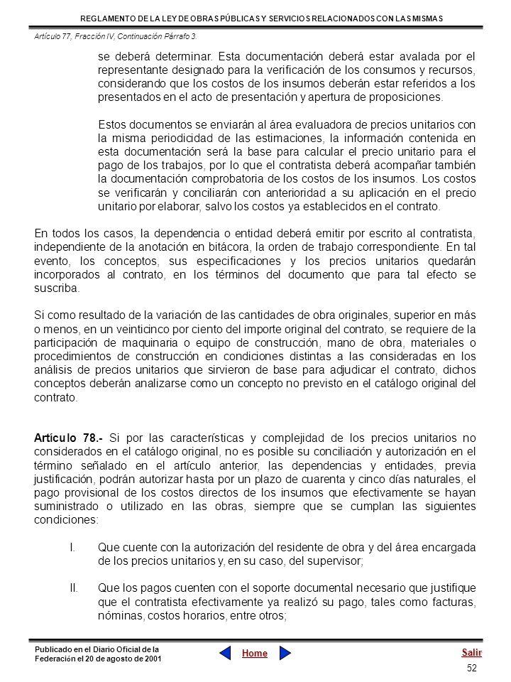 Artículo 77, Fracción IV, Continuación Párrafo 3.