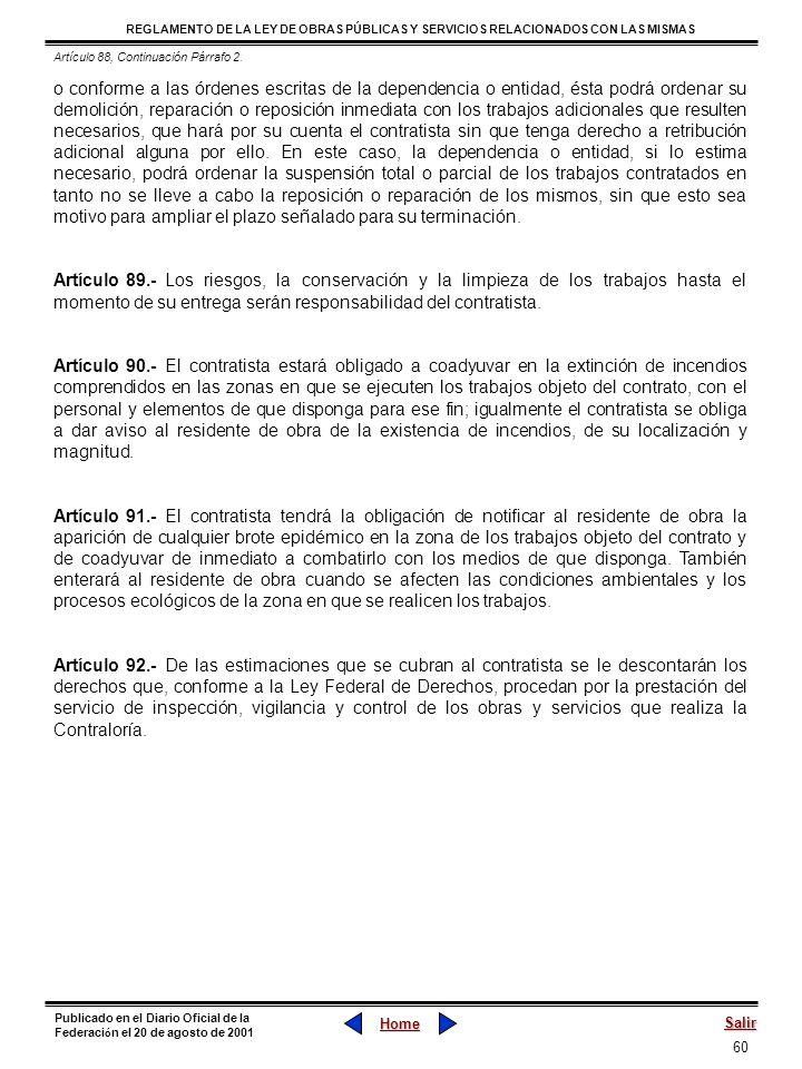 Artículo 88, Continuación Párrafo 2.