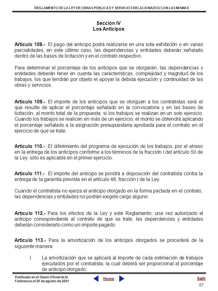 Sección IV Los Anticipos